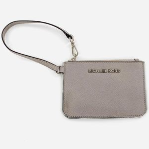 Michael Kors wristlet grey and silver in euc